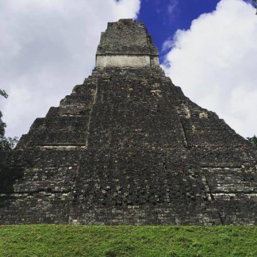 One of many temples at the Mayan ruins of Tikal, Guatemala