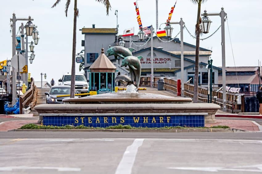 Stearns Wharf and State Street in the city of Santa Barbara. Photo by Mark Weber/Courtesy of Visit Santa Barbara.