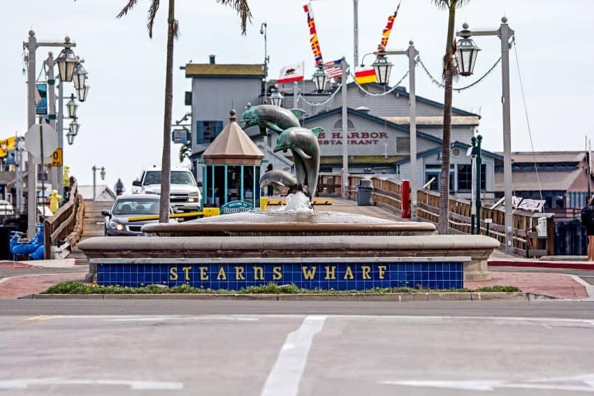Stearns Wharf and State Street in the city of Santa Barbara. Photo by Mark Weber/Courtesy of Visit Santa Barbara.