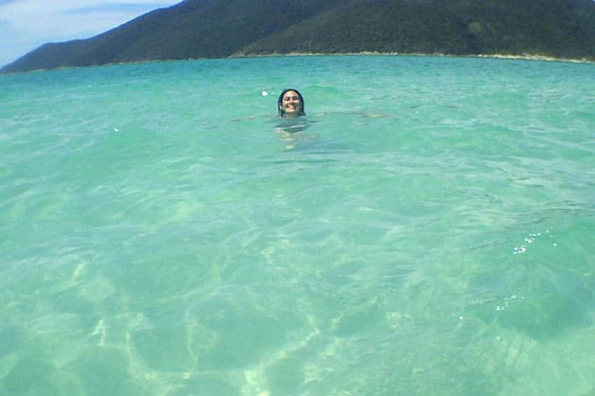 "Swimming in Pontal do Atalaia. Due to the turquoise water in this beach, Arraial is called ""The Brazilian Caribbean"". The amazing view takes visitors' breath away. 