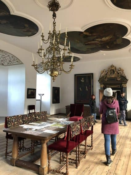 Viewing a room at Kronborg Castle. | GoNOMAD Travel