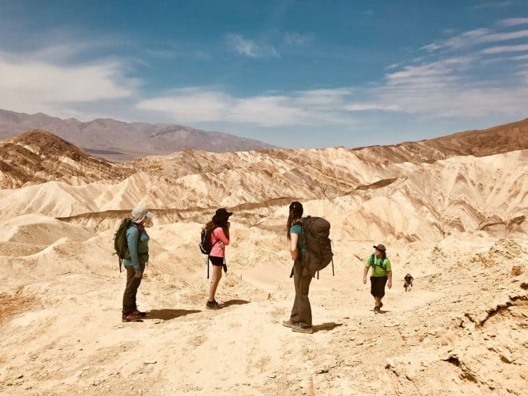 Hiking the volcanic crater, Death Valley Mojave desert on the California/Nevada border. Karolee Bulak photos. | GoNOMAD Travel