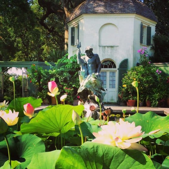 The gardens and fountains at Houmas House are quite possibly the finest in all of Louisiana and are a big draw each spring for those who love lush landscapes and bright flowers. | GoNOMAD Travel