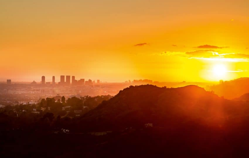 This was the first LA sunset that I shot. This photo was taken from Griffith Park.| GoNOMAD Travel