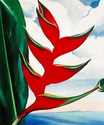 Heliconia, Crab's Claw Ginger, 1939 (© 2018 Georgia O'Keeffe Museum:Artists Rights Society, New York)