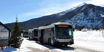 Summit County Stage offers free bus service to many towns in the county.