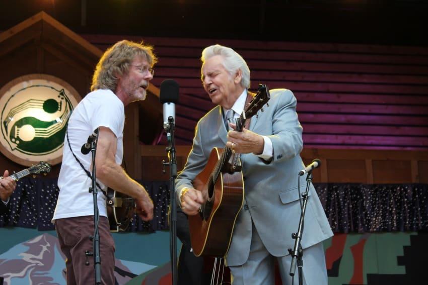 Del McCoy and Sam Bush at Telluride Bluegrass Festival