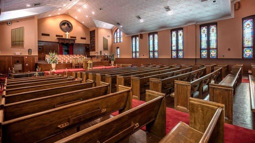 Interior of Ebenezer Baptist Church in Atlanta, Georgia from US Civil RIghts Trail Website