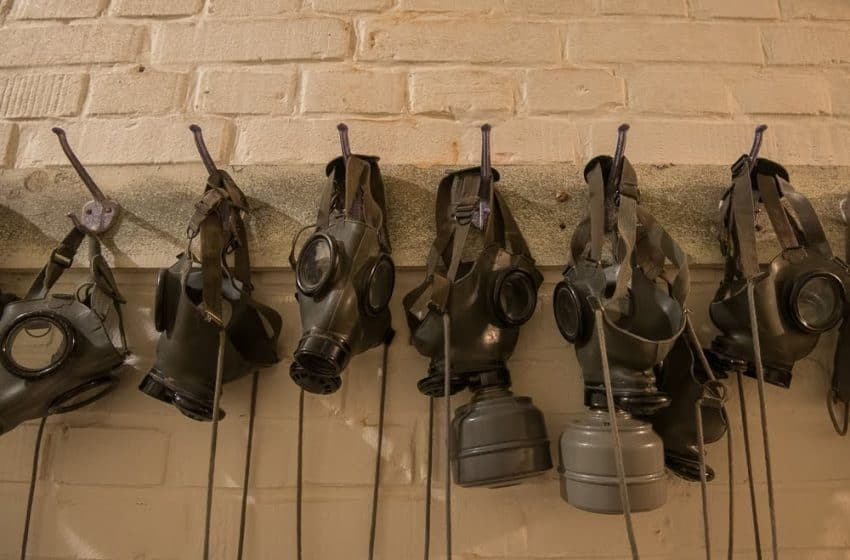 Gas masks and jackets can be worn by visitors to get a sense of what it might have felt like in a chemical attack during the Cold War. They would also make for a scary Halloween mask!