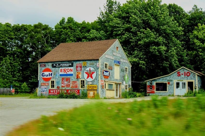 Lots of unique sights on US Route 1 along Maine's coast.