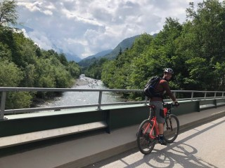 In Montafon, surrounded by the high Alp mountains, a very popular sport is riding electric mountain bikes to conquer the steep slopes of the mountains.