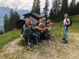 Most Austrian or German hikers use hiking poles like these to stay on balance up the steep trails.
