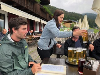 Hikers and bikers in this part of Austria are treated to delicious lunches at places like this...and for many, a Radler beer made with half lemonade is the perfect refresher.