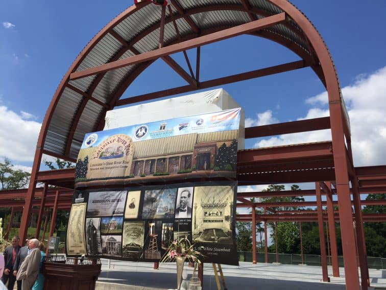 The future home of the Great River Road Museum and Interpretive Center at Houmas House, being built at a cost of around $15 million, will have a 24-foot-high pedestrian bridge that will cross River Road to the top of the Mississippi River levee. | GoNOMAD Travel