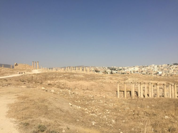 The Jerash site in northern Jordan.