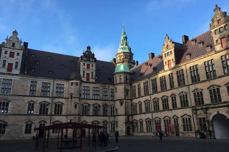The immense courtyard in the midst of Kronborg Castle. Susmita Sengupta photos.
