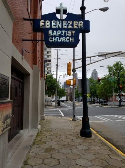 A Street View of the Ebenezer Baptist Church in Atlanta, Georgia by Fran Folsom