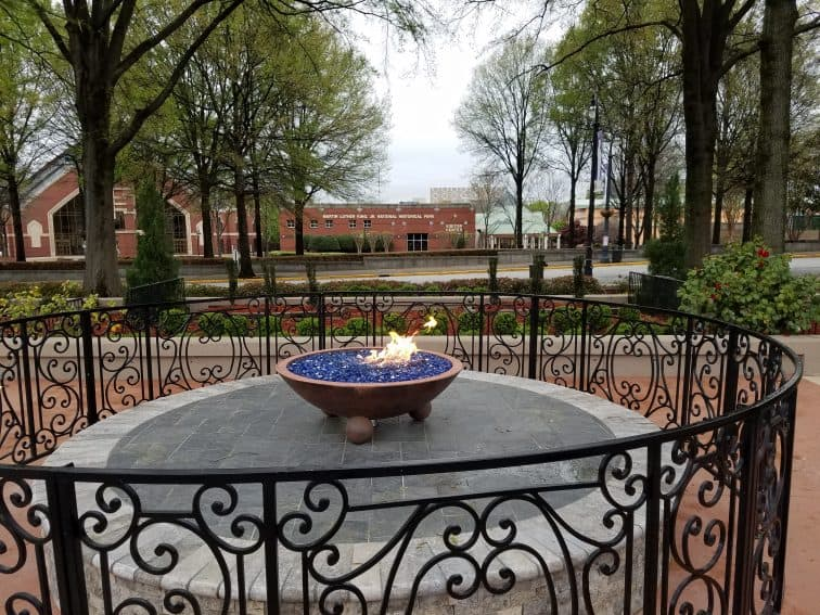 The Eternal Flame In the King Center, Taken by Fran Folsom