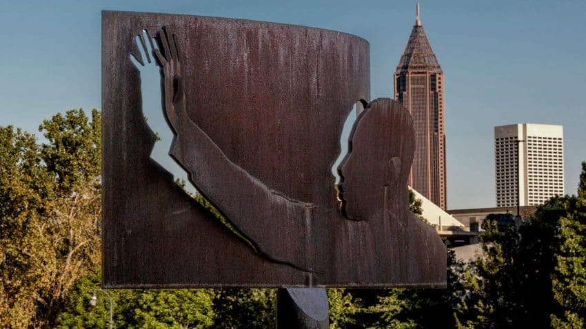 Profile Statue of MLK in Atlanta, Georgia. Photos from US Civil Rights Trail Website