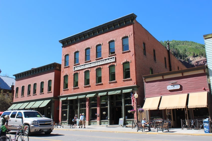 The New Sheridan Hotel on Telluride's main drag