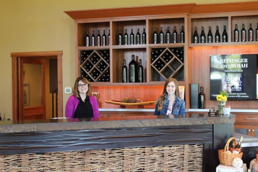 Reininger Winery tasting room in Walla Walla