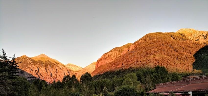 Telluride at sunset
