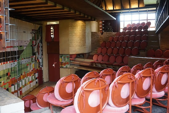 The Taliesin theater has all the angles.