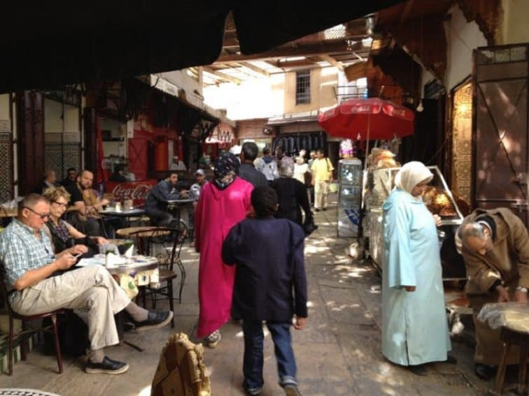 Hanging out in the market in Fes.