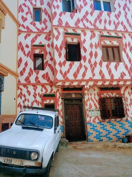 The art is everywhere in Asilah, Morocco.