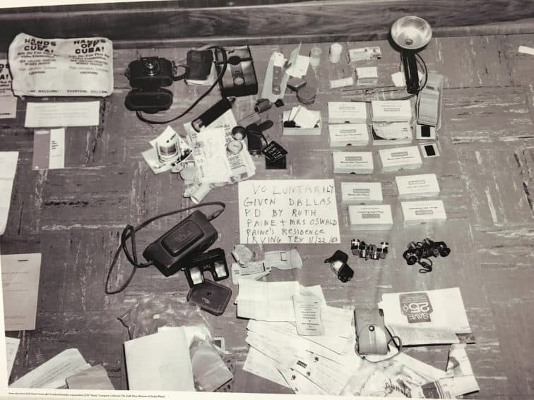 Police confiscated items from the Paine home after the assassination.