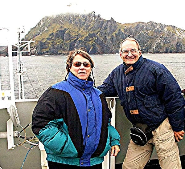 Mary and David Rich on their way back from Antarctica. David Rich photos.