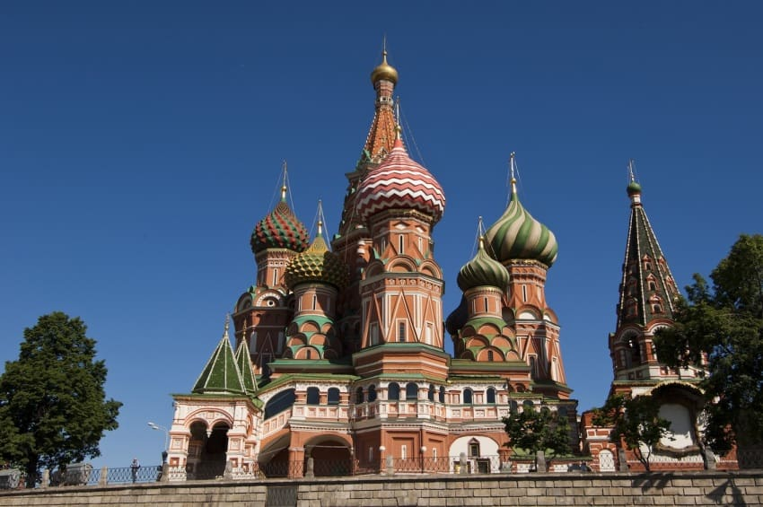 A photo taken during the travel group's time in Moscow.