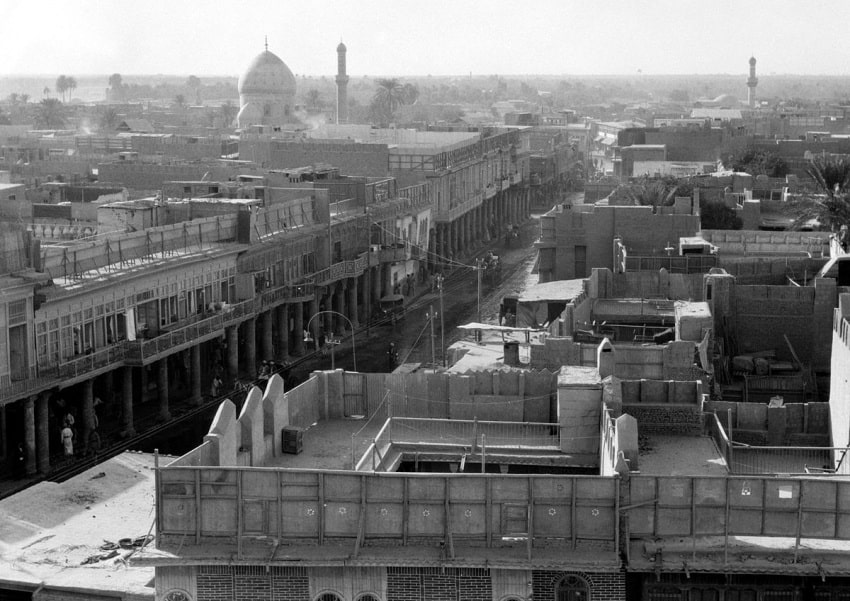 An old picture of Baghdad, taken from the Wikipedia Commons.