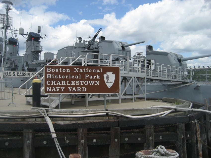 The Charleston Navy Yard in the Boston National Historical Park.
