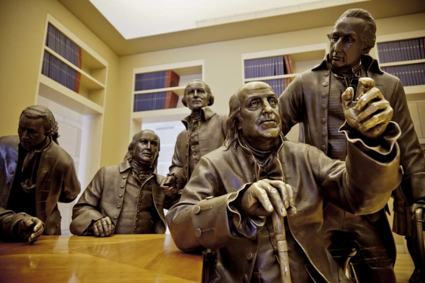 Some of the Founding Fathers in the Signer's Hall.
