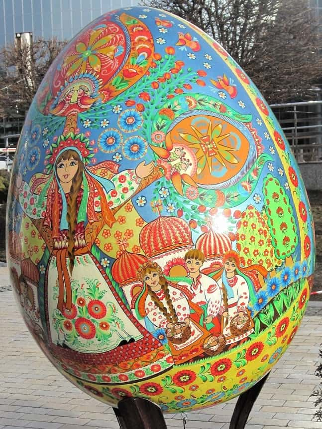 Easter Egg with traditional motif.
