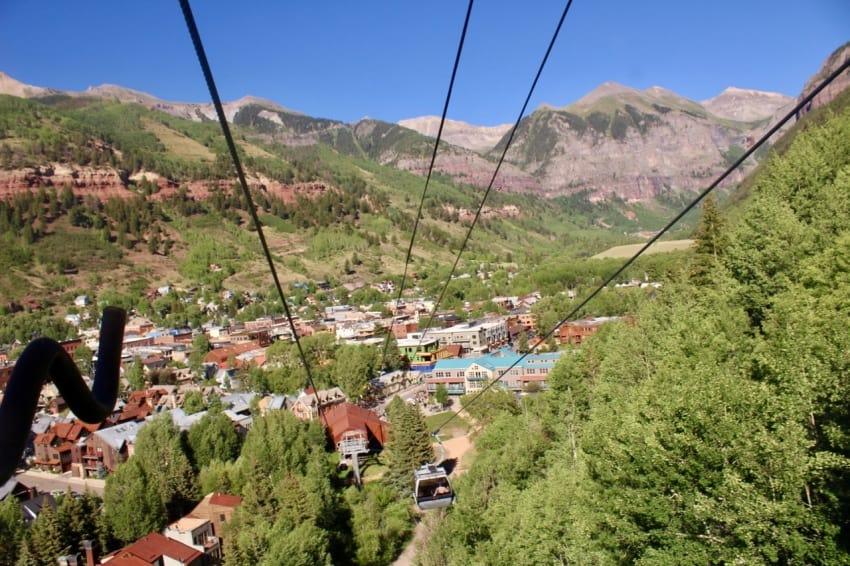 Telluride to Mountain Village gondola