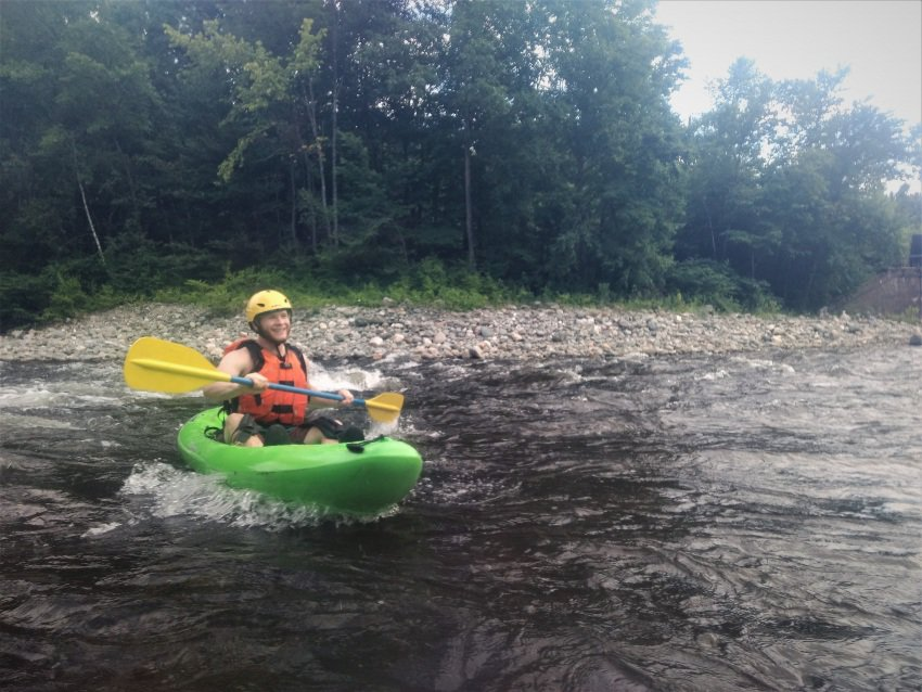 Enjoying the day on the river in my kayak.