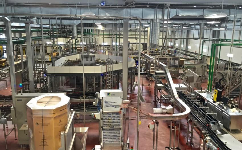 The inner workings of the brewery during a guided tour.