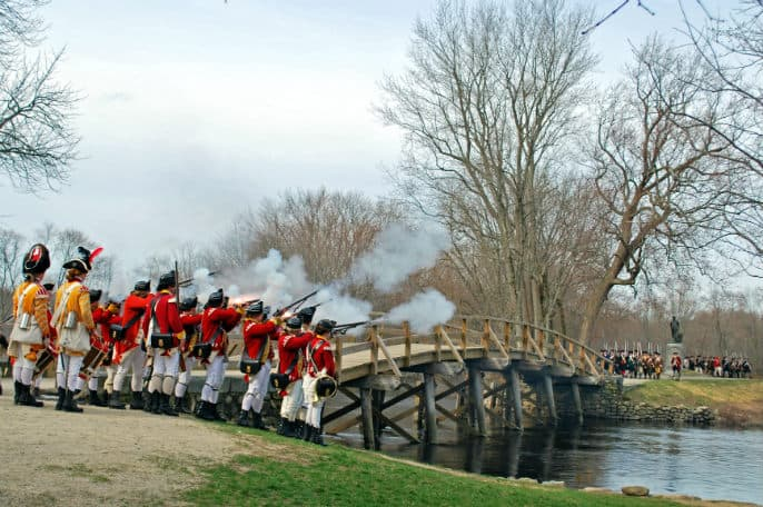 The North Bridge Battle Commemoration at Minute Man National Historical Park.