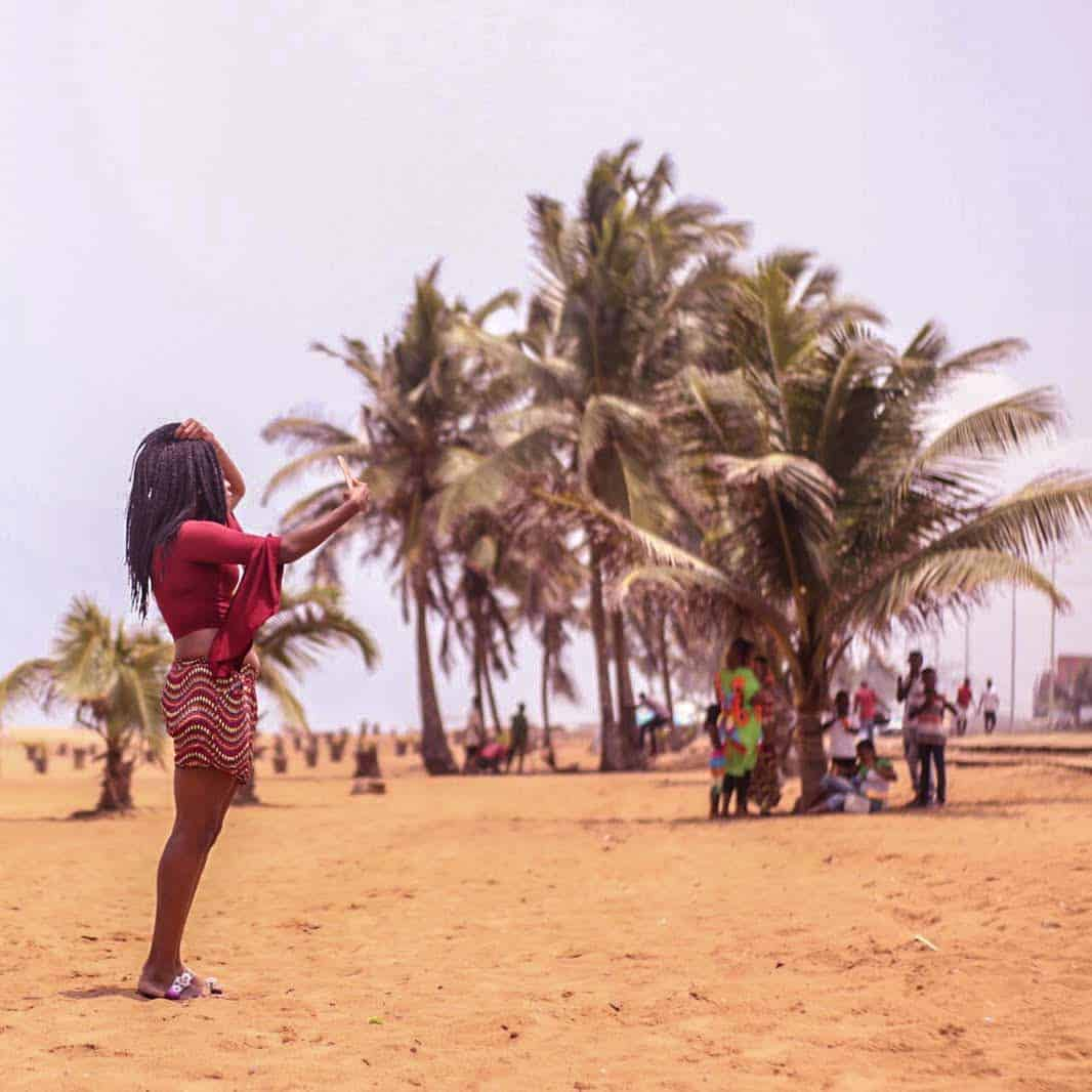 A day at the beach along Lome (Togo)