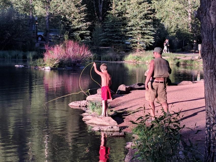 Telluride kid's fishing pond