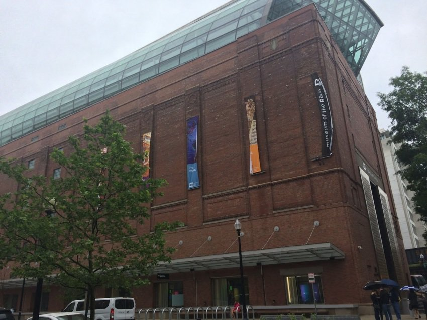 The Bible Museum is built in an old refrigeration facility three blocks from the Capitol in Washington DC. Allison de Laveaga photos.