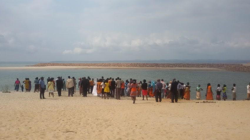 A wedding on the beach in Zavora, Mozambique.