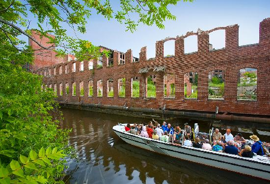 A canal tour at Lowell National Historical Park.