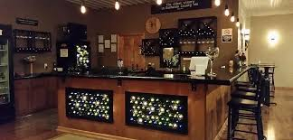 The bar in the tasting room at Tipple Hill Winery.
