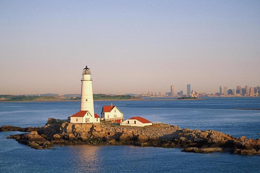 The lighthouse in the Boston Harbor. Photos from nps.gov.