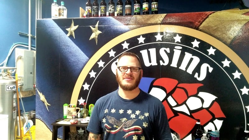 Aaron Brown is the co-founder and master brewer at brand new Cousins Ale in Wappinger Falls.