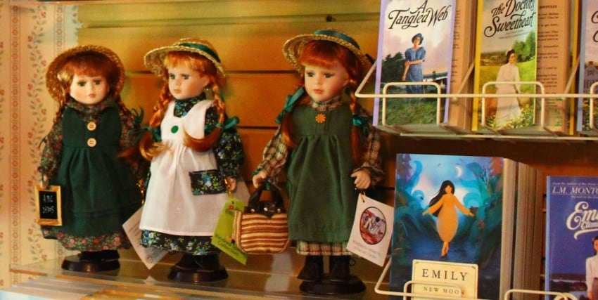Anne of Green Gables dolls at Silver Bush, the setting for one of LM Montgomery's books based in Prince Edward Island, Canada.