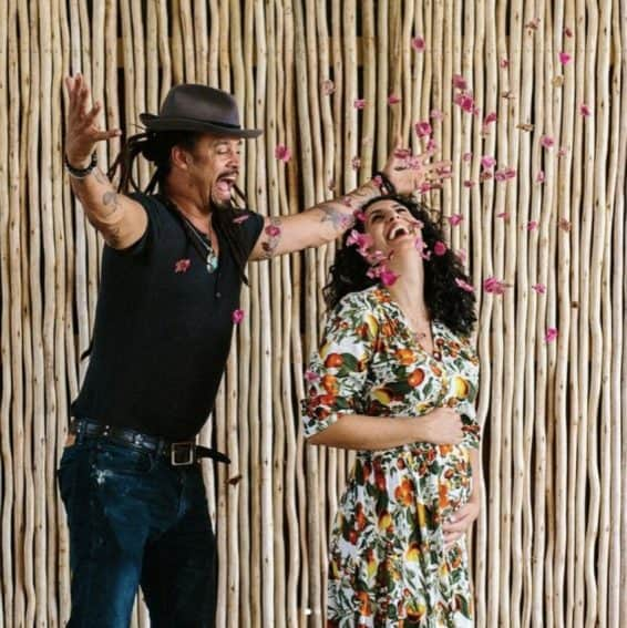 Michael and his wife, Sara Agah Franti